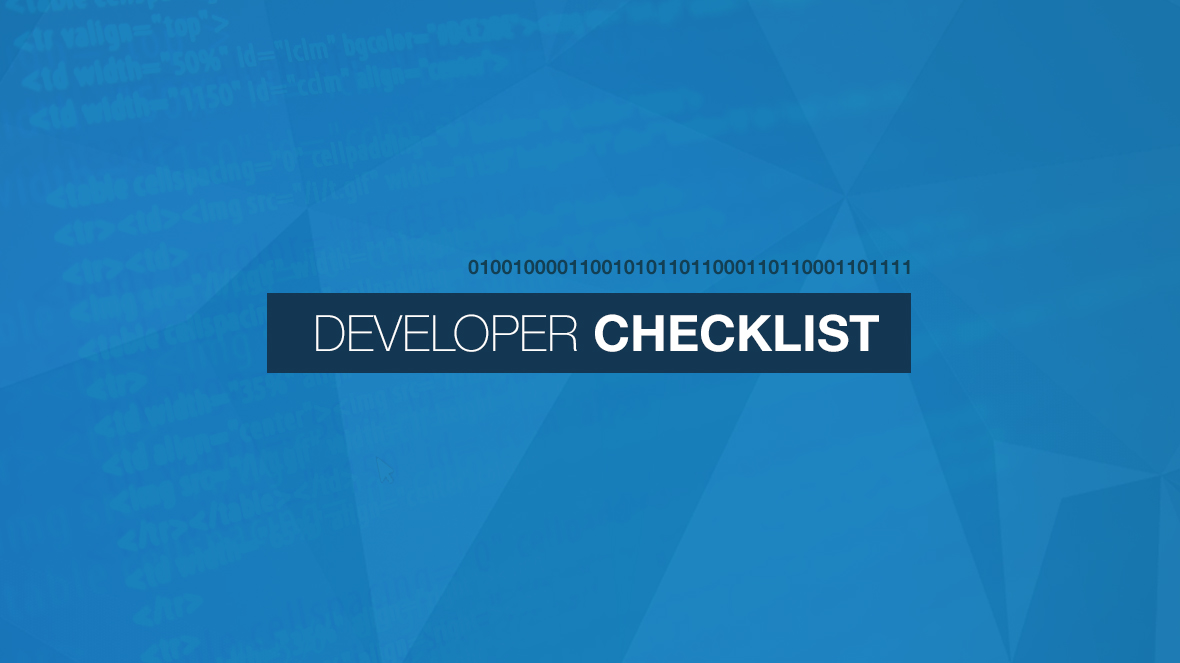 Checklist for Good Programming