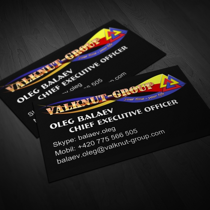 «Valknut Group» business card