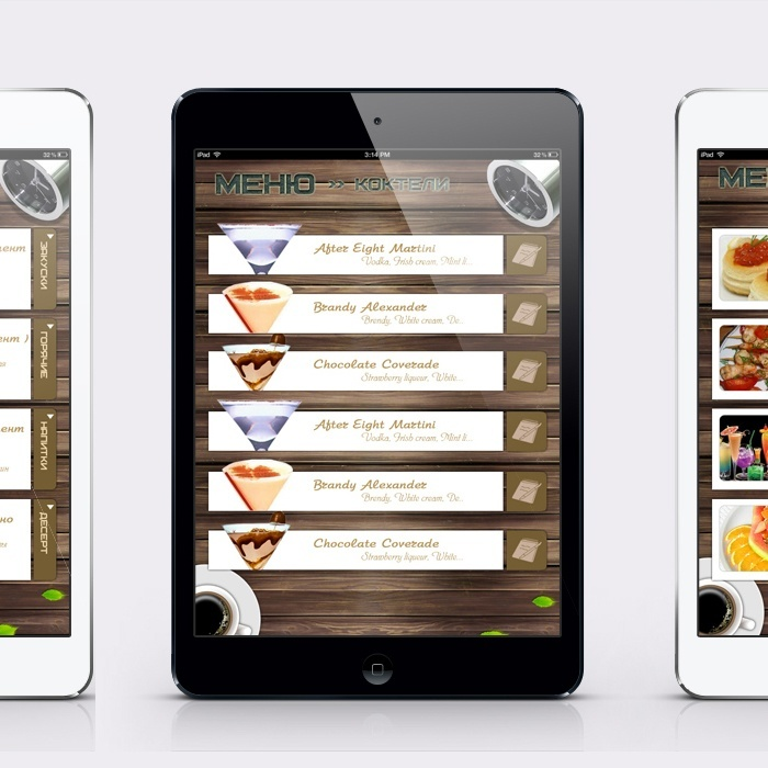 Ipad app restaurant menu design portfolio