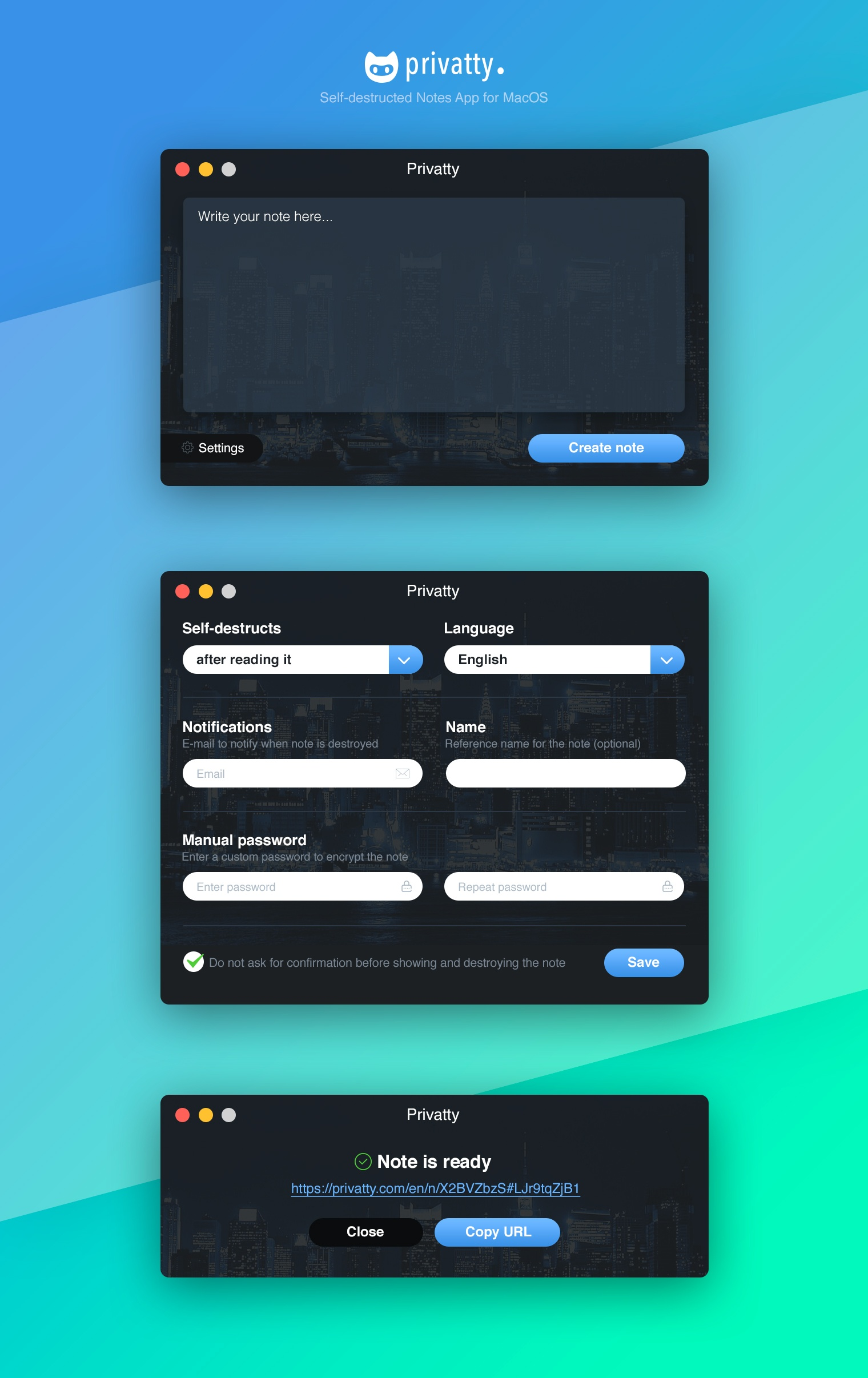 Privatty MacOS App Design №1