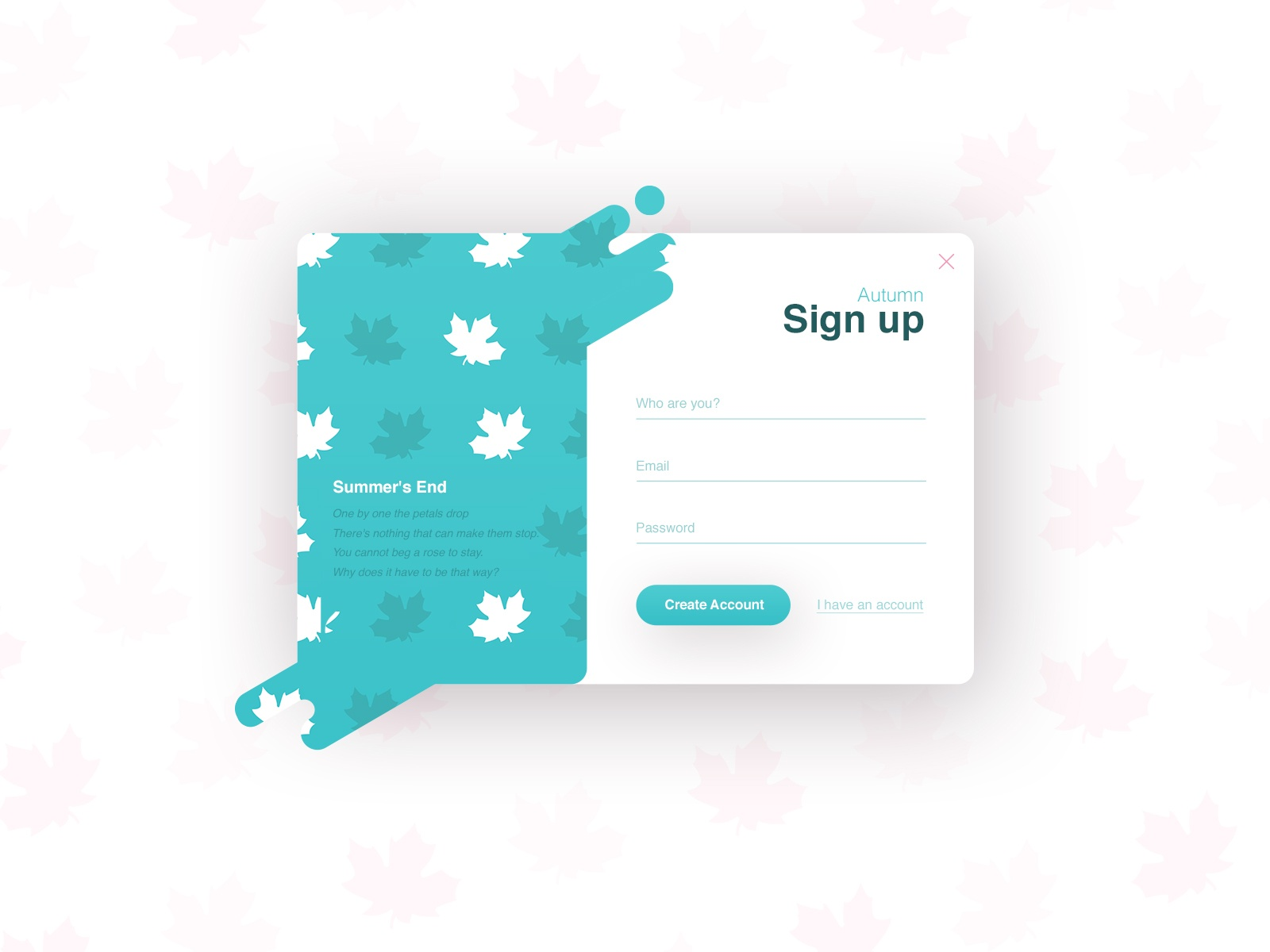 Sign-up Forms (season series) №4 - Autumn